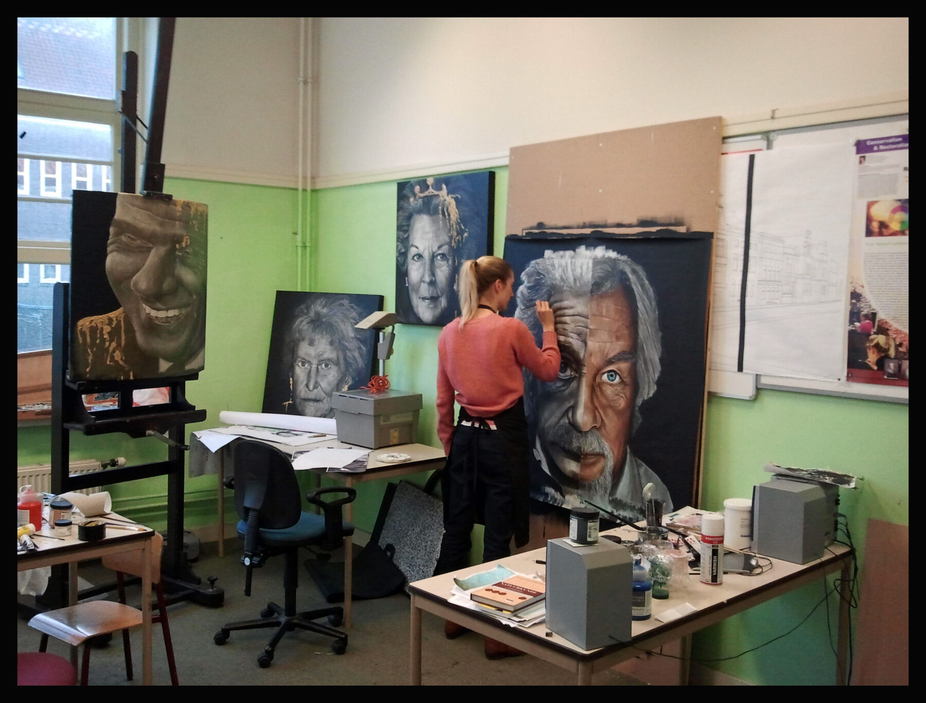working on exhibition: '(WANING) POWER'